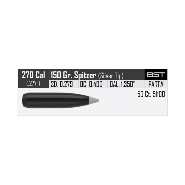 Nosler - Ballistic SilverTip -  277 - 150grain - 50 stk