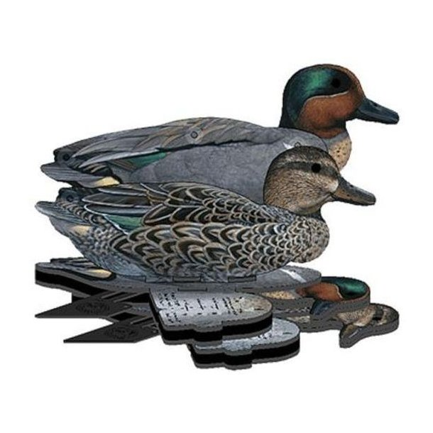 NRA FUD - Green Wing Teal Decoys - 6 Pack